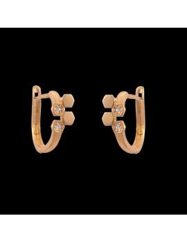 Złote ORYGINALNE Kolczyki pr333 Cyrkonia PREZENT
