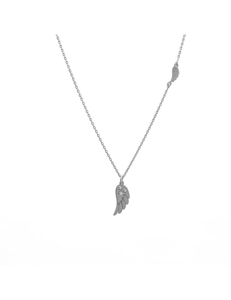 Srebrny Naszyjnik Celebrytka Skrzydła Anioła