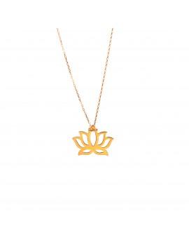 Złoty Naszyjnik Kwiat Lotosu