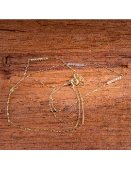 Złoty Naszyjnik Cztery Zawieszki