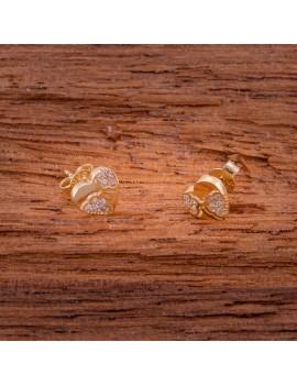 Złote Kolczyki Sztyfty Oryginalne Serca