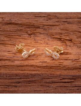 Złote Kolczyki Sztyfty Nieskończoność Motyle