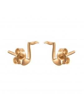 Złote DZIECIĘCE Kolczyki Sztyft pr333 NUTKA