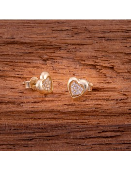 Złote DZIECIĘCE Kolczyki Sztyft pr333 PIĘKNE SERCA