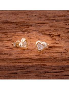 Złote Kolczyki Sztyft pr333 PIĘKNE MODNE SERCA