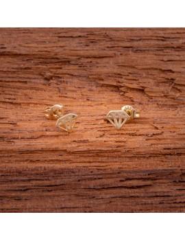 Złote DZIECIĘCE Kolczyki SZTYFT pr333 DIAMENCIK