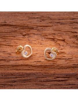 Złote DZIECIĘCE Kolczyki Sztyft pr333 MODNE SERCE