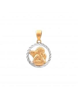 Złoty Medalik pr333 ANIOŁEK Białe Złoto OKAZJA
