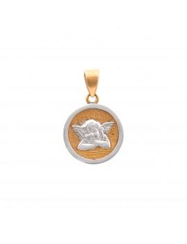Złoty Subtelny Medalik pr333 ANIOŁEK Białe Złoto