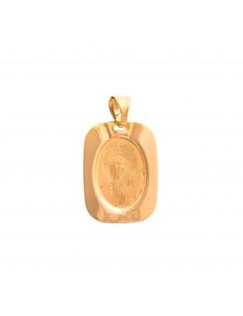 Złoty Prostokątny Medalik Matka Boska