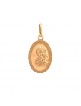 Złoty Owalny Medalik Matka...