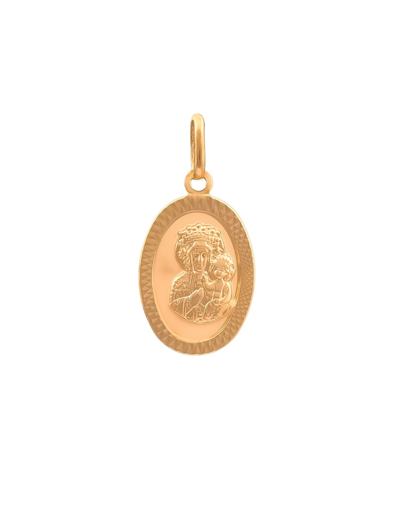 Złoty OWALNY MEDALIK pr333 MATKA BOSKA na PREZENT