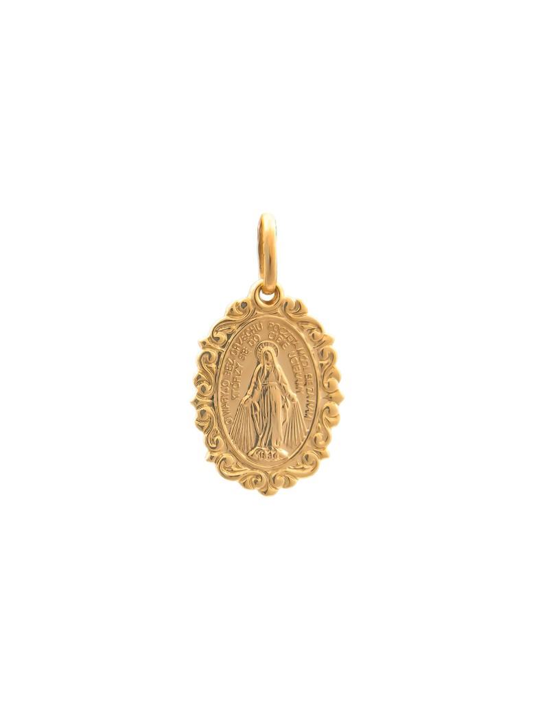 Złoty Medalik Duży Szkaplerz Na Prezent
