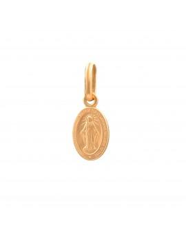 Złoty Owalny Medalik Klasyczny Szkaplerz