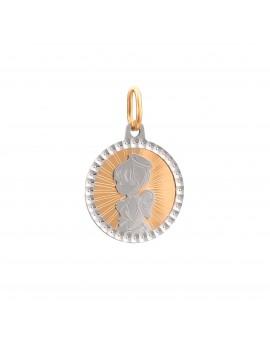 Złoty Okrągły Medalik pr585...