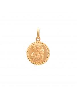 Złoty Okrągły Medalik Matka...