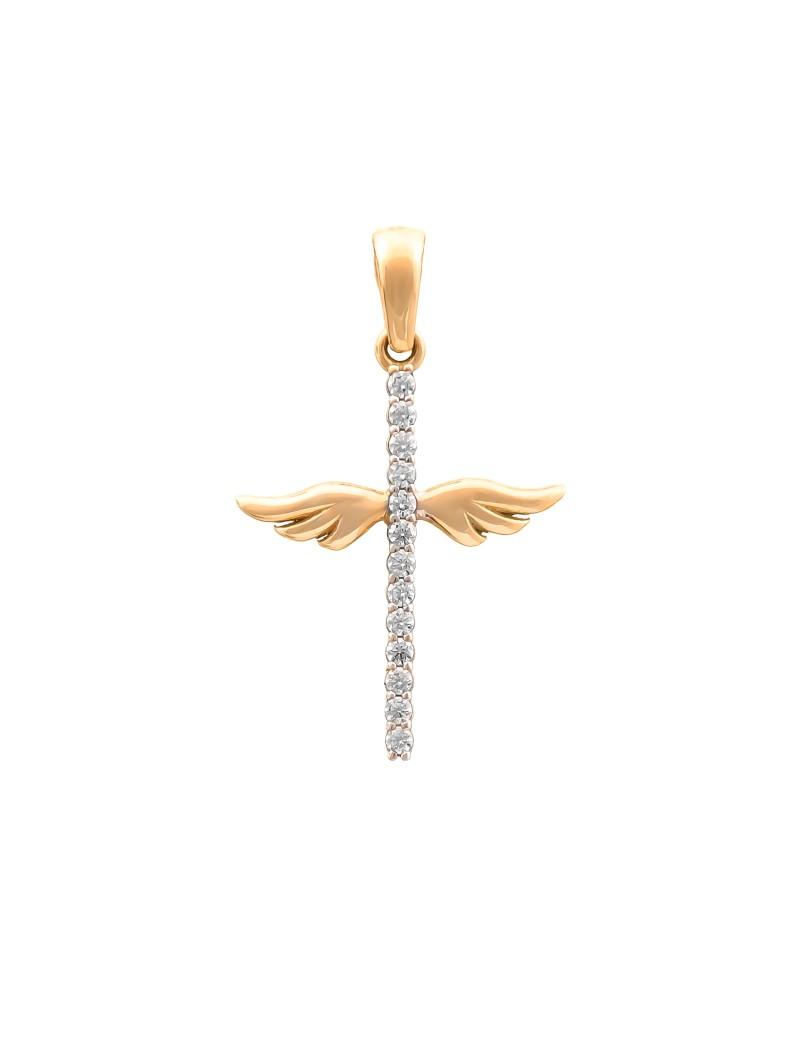 Złoty Krzyżyk Skrzydła Anioła