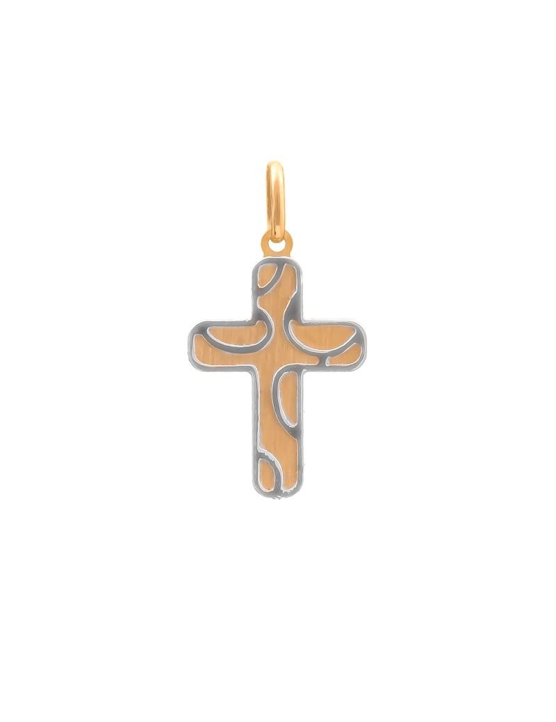 Złoty Krzyżyk Z Białym Złotem