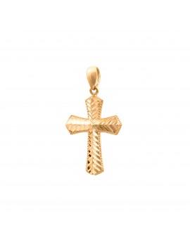 Złoty PIĘKNY Krzyżyk pr585...