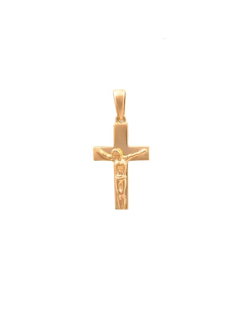 Złoty Krzyżyk pr585 KLASYCZNY CHRZEST KOMUNIA