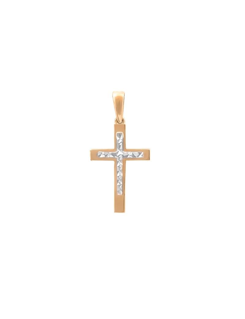 Złoty Krzyżyk pr585 KLASYK BIAŁE ZŁOTO na PREZENT