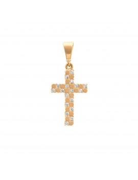 Złoty MODNY Krzyżyk pr585...