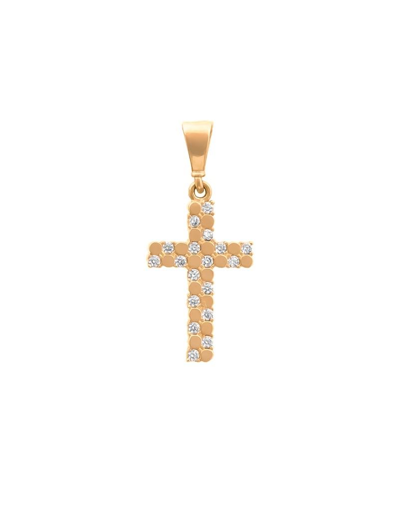Złoty Piękny Krzyżyk Z Cyrkoniami