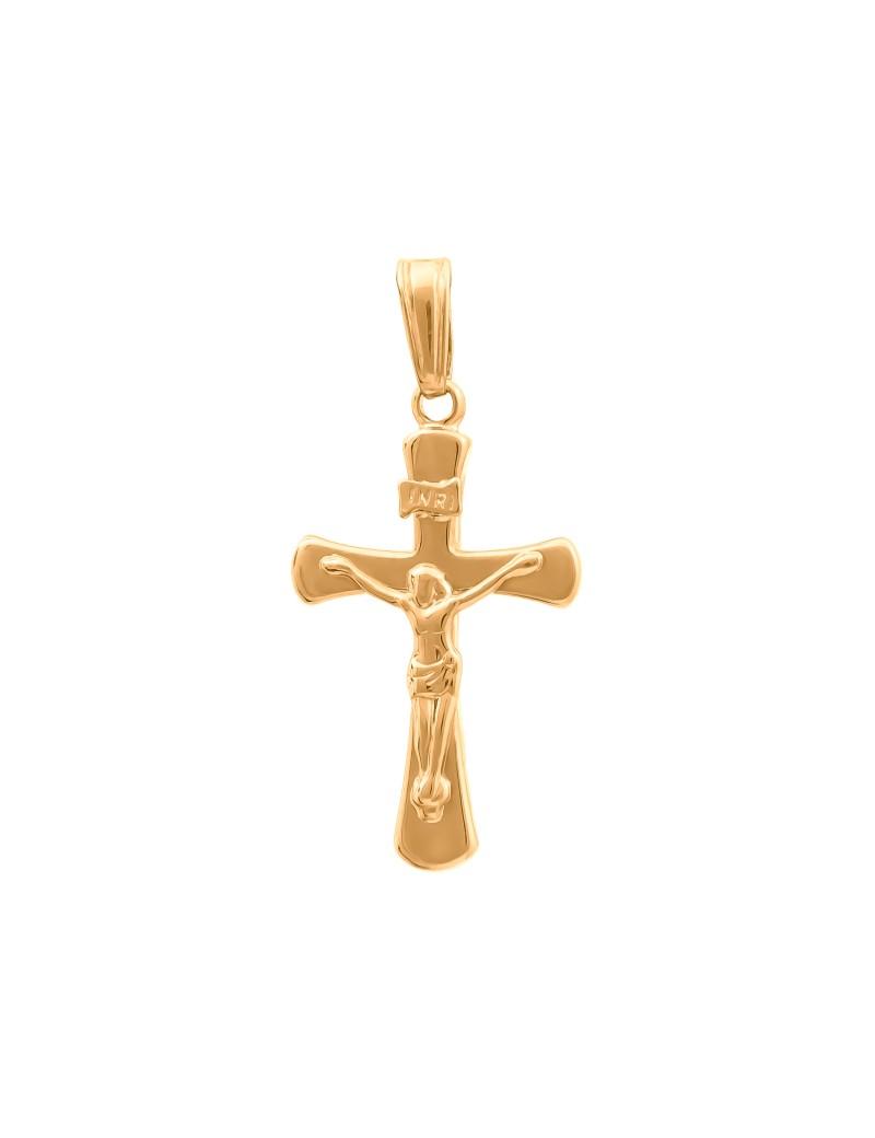 Złoty Krzyżyk pr585 KLASYCZNY MODEL na PREZENT
