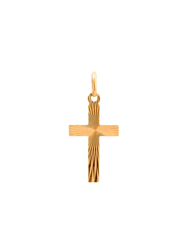 Złoty KLASYCZNY DWUSTRONNY Krzyżyk pr585 OKAZJA!!!