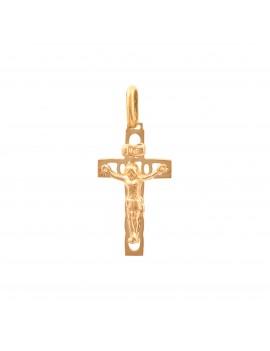 Złoty Tradycyjny Męski Krzyżyk