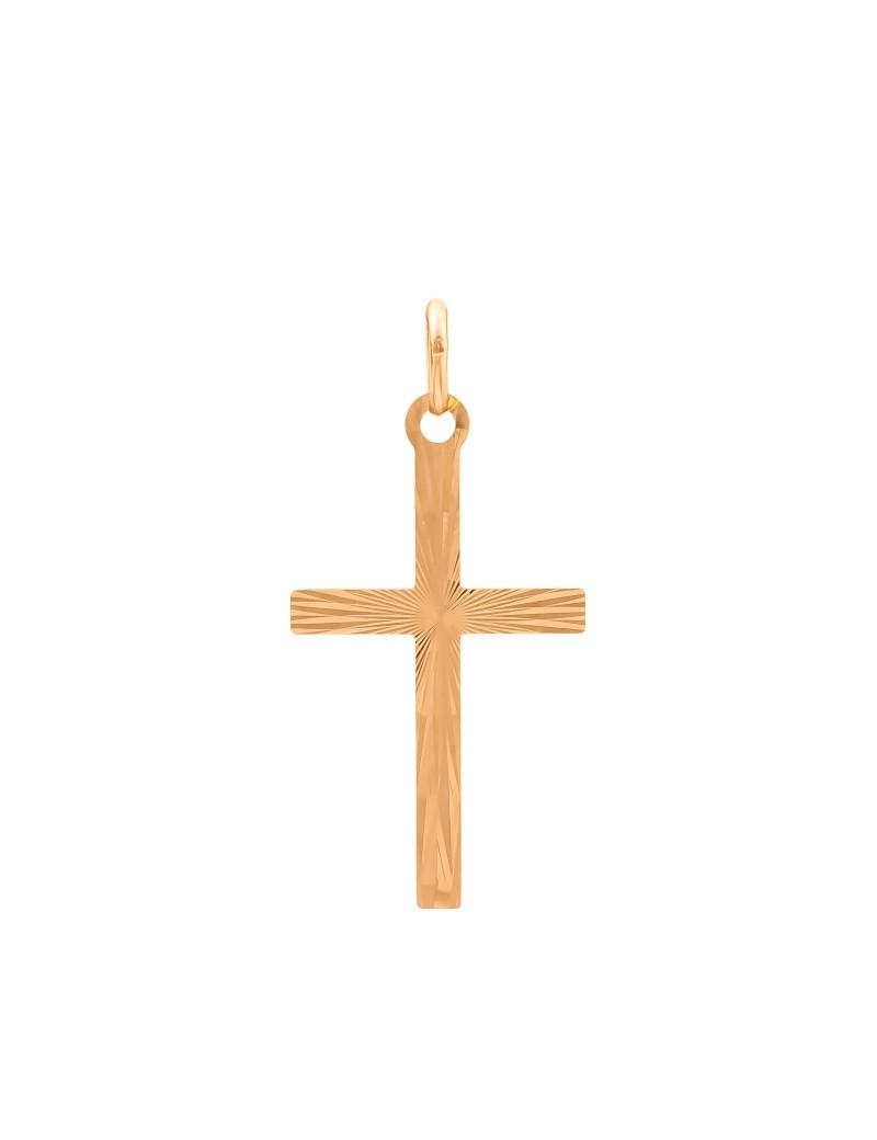 Złoty Klasyczny Krzyżyk Z Nacięciami
