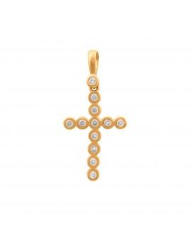 Złoty ORYGINALNY Krzyżyk...