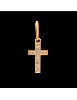 Złoty Klasyczny Krzyżyk Cały W Cyrkoniach