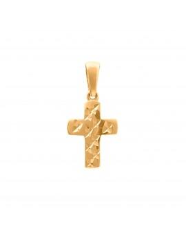 Złoty Krzyżyk Z Nacięciami