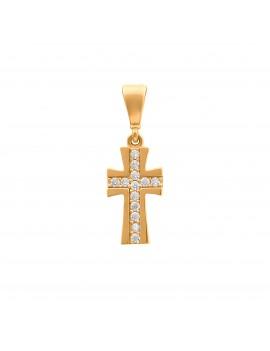Złoty Delikatny Krzyżyk Z...