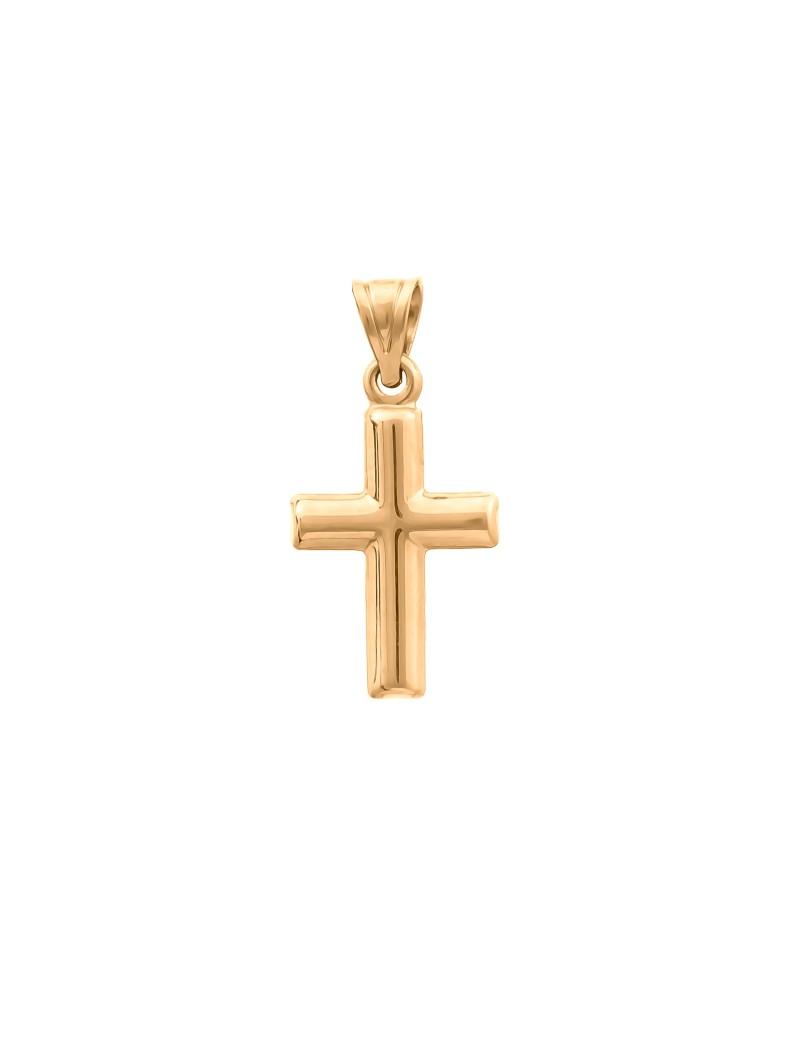 Złoty Klasyczny Tradycyjny Krzyżyk Uniseks
