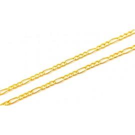 Złoty Łańcuszek pr585 Splot FIGARO 50cm PREZENT