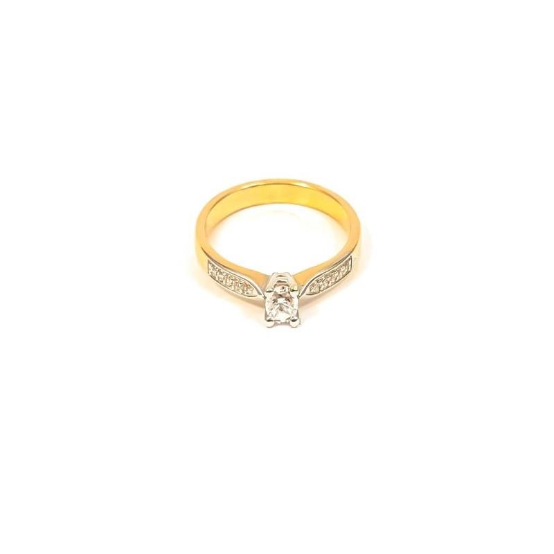 Złoty Pierścionek Zaręczyny r17