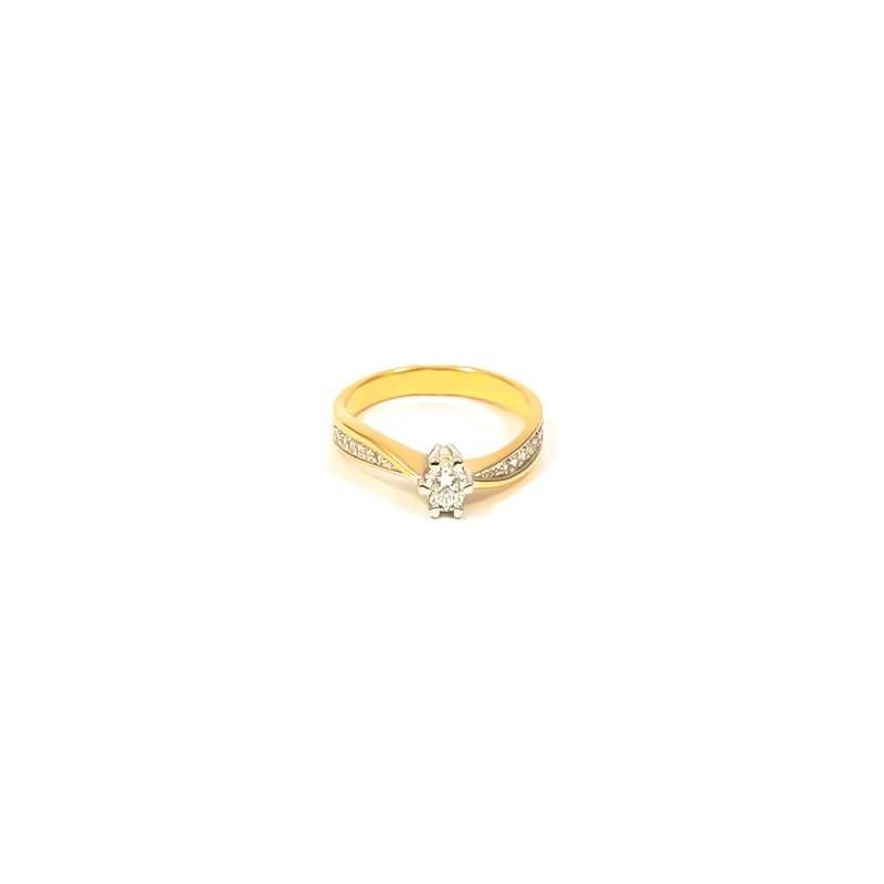 Złoty Pierścionek pr585 na IDEALNE ZARĘCZYNY r16