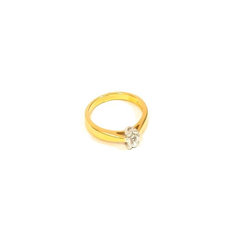 Złoty Pierścionek pr585 KLASYCZNY na ZARĘCZYNY