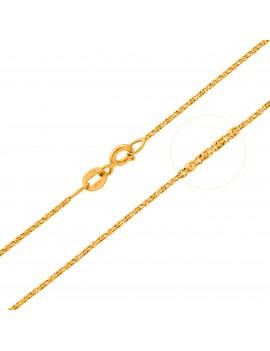 Złoty PEŁNY Łańcuszek pr585 40cm ORYGINALNY SPLOT