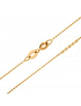 Złoty PEŁNY Łańcuszek pr585 45cm BIAŁE ZŁOTO