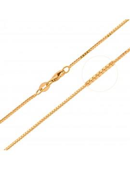 Złoty Łańcuszek pr333 SPLOT KOSTKA 42cm na PREZENT