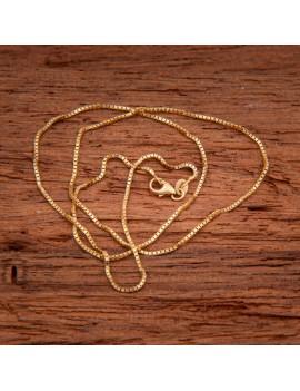 Złoty Łańcuszek 42cm Kostka Grawer