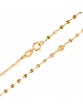 Złoty Łańcuszek 45cm Oryginalny Splot Grawer