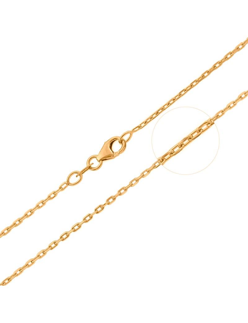 Złoty Łańcuszek 42cm Splot Ankier Grawer