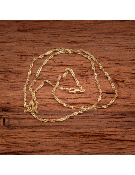 Złoty Łańcuszek 45cm Kręcony Splot Grawer