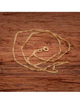 Złoty Łańcuszek 42cm Kręcony Splot Grawer