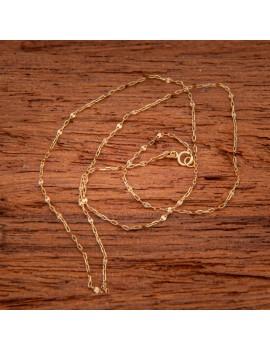 Złoty Łańcuszek pr333 ORYGINALNY MODNY SPLOT 45cm