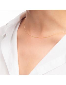 Złoty Łańcuszek 50cm Oryginalny Splot Grawer